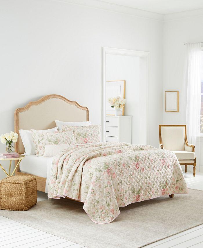 Laura Ashley - Breezy Floral Full/Queen Quilt-Sham Set