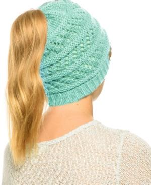 Messy Bun Ponytail Crochet Beanie