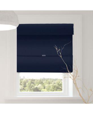 Cordless Magnetic Roman Shades, Room Darkening Fabric Window Blind, 48
