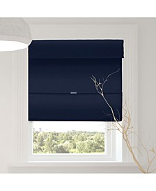 Cordless Magnetic Roman Shades, Room Darkening Fabric Window Blind