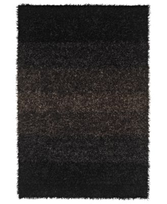 "Metallics Shades Shag 3'6"" x 5'6"" Area Rug"