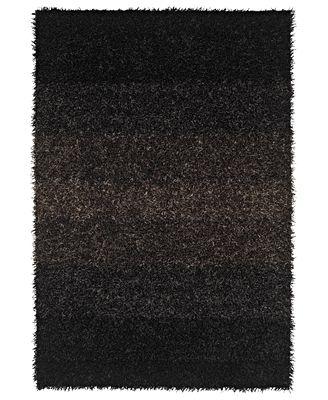 Dalyn Area Rug, Metallics Shades Shag Black 9 x 13 - Rugs - Macys