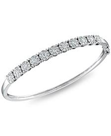 Diamond 1-1/2 ct. t.w. Bangle in 14k White Gold