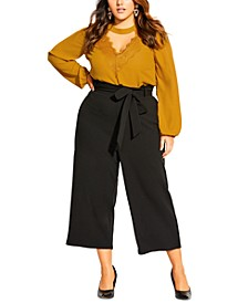 Trendy Plus Size Tie-Waist Pants