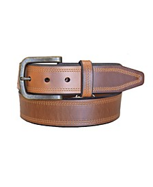 Men's Crusader Oil Tanned Harness Leather Casual Work Jean Belt