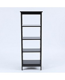 X-Sided Narrow 4-Tier Bookcase