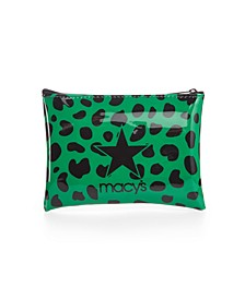 Green Leopard Logo Pouch, Created for Macy's