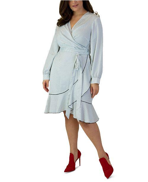 Maree Pour Toi Plus Size Printed Wrap Dress
