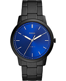 Fossil Men's Minimalist Black Stainless Steel Bracelet Watch 44mm