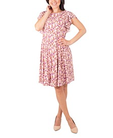 Petite Floral-Print Ruffle Dress