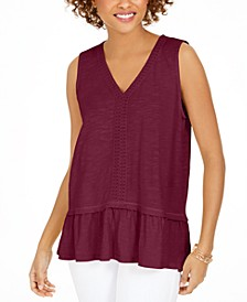 Ruffle-Hem Tank, Created for Macy's