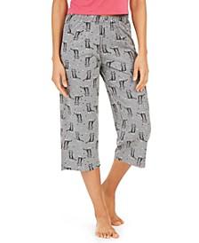 Cotton Temp Tech Cat-Print Capri Pajama Pants