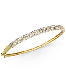 Diamond Double Row Bangle Bracelet (1 ct. t.w.) in 14k Gold