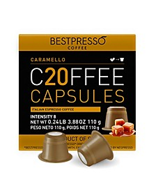 Coffee Caramello Flavor 20 Capsules per Pack for Nespresso Original Machine
