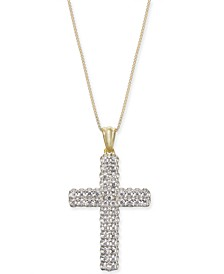 "Diamond Cross 18"" Pendant Necklace (1/2 ct. t.w.) in 14k Gold"
