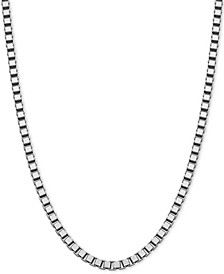 """Box Link 20"""" Chain Necklace in Sterling Silver"""