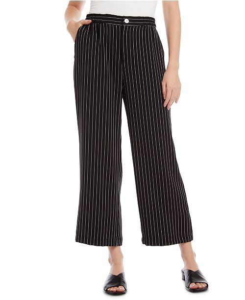 Karen Kane Pinstriped Cropped Pants