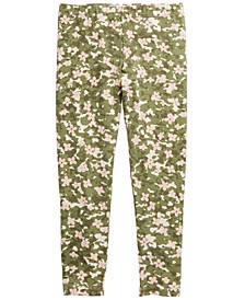 Little Girls Camo-Floral-Print Leggings, Created for Macy's