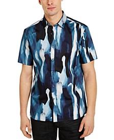 INC Men's Big & Tall Watercolor Drip Shirt, Created for Macy's