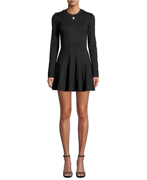 Nicole Miller Ponté-Knit Fit & Flare Dress