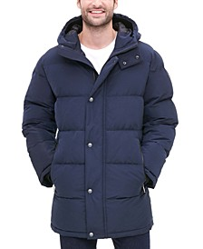 Men's Quilted Water Resistant Hooded City Full Length Parka Jacket, Created for Macy's