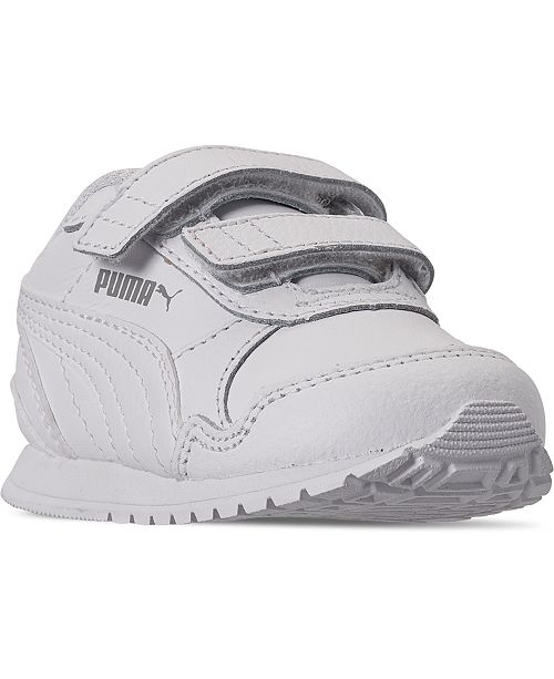Puma Toddler Boys ST Runner Leather Stay-Put Closure Casual Sneakers from Finish Line