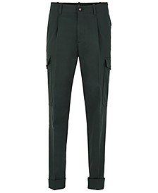 BOSS Men's Kirio-Pleats Relaxed-Fit Cargo Trousers