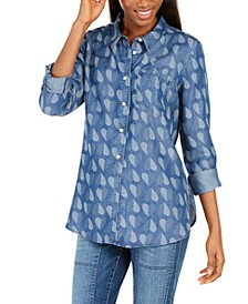 Polka-Heart Printed Shirt
