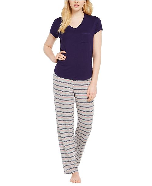 Alfani Super Soft Pajama Separates, Created for Macy's
