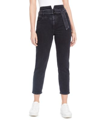 Belted 80s Straight-Leg Jeans