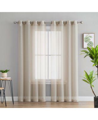 Lumino by Perth Semi Sheer Grommet Curtain Panels - 54 W x 45 L - Set of 2