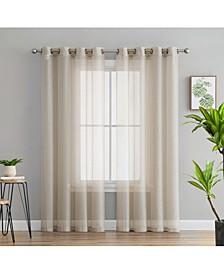 Lumino Perth Semi Sheer Grommet Curtain Panels - Set of 2