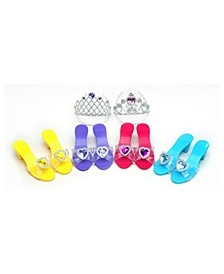 Rainbow Star Dress Up Kit - 4 Shoes and 2 Tiaras Set