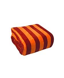 Luxury Printed Stripe Microplush Blanket, Full/Queen