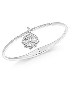 Cubic Zirconia Cluster Charm Bangle Bracelet, Created for Macy's