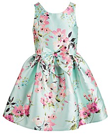 Big Girls Floral Bow Mikado Dress