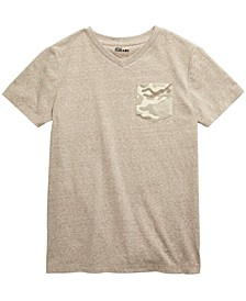 Big Boys Camo Pocket V-Neck T-Shirt, Created For Macy's