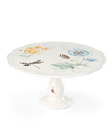 Butterfly Meadow Gold - 20th Anniversary Medium Pedestal Cake Plate