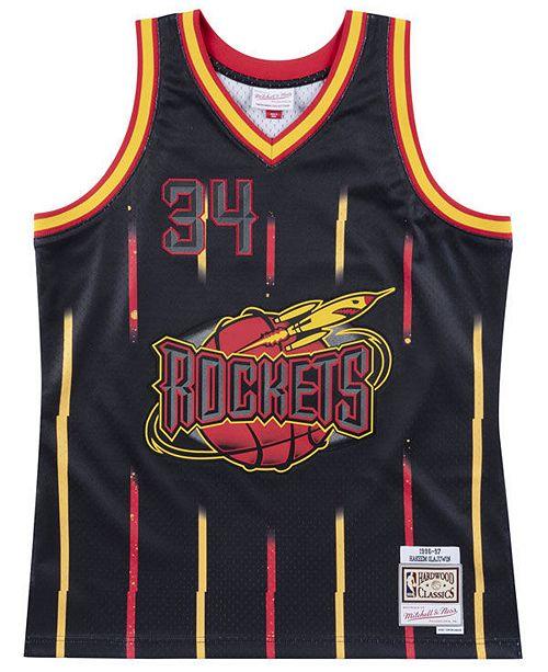 Mitchell & Ness Men's Houston Rockets Rings Swingman Jersey