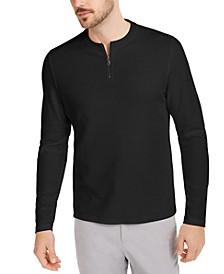 Men's Quarter-Zip Thermal Shirt, Created for Macy's