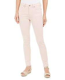 Printed Stripe Bristol Skinny Ankle Jeans, Created for Macy's