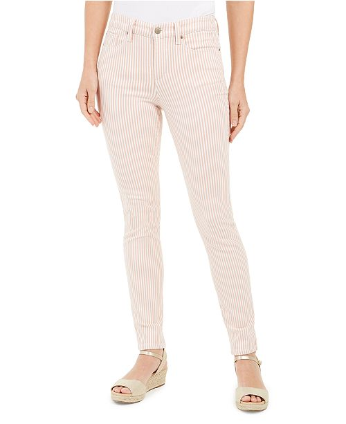 Charter Club Printed Stripe Bristol Skinny Ankle Jeans, Created for Macy's