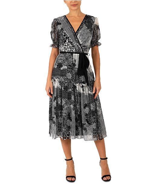 Donna Ricco Printed A-Line Dress