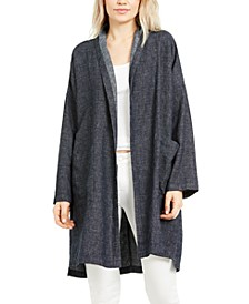Organic Cotton Open-Front Coat, Regular & Petite