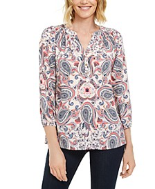 Printed Woven Top, Created for Macy's