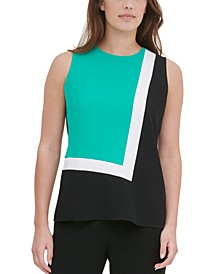 Sleeveless Colorblocked Top