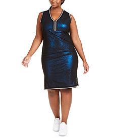 Lala Anthony Trendy Plus Size Shimmer Mesh Dress