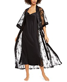 INC Lace Side Nightgown & Long Lace Robe, Created For Macy's