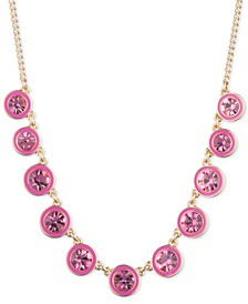 """Gold-Tone Crystal Statement Necklace, 16"""" + 3"""" extender"""