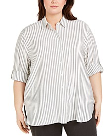 Plus Size Striped Tunic